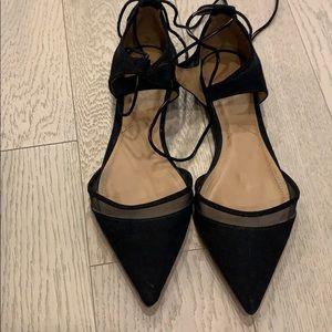 Hardly worn Zara Black Pointed Flats/Sandals